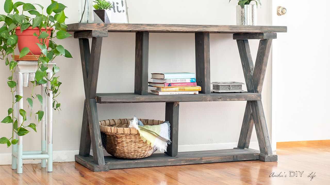 Diy Rustic X Leg Console Table With