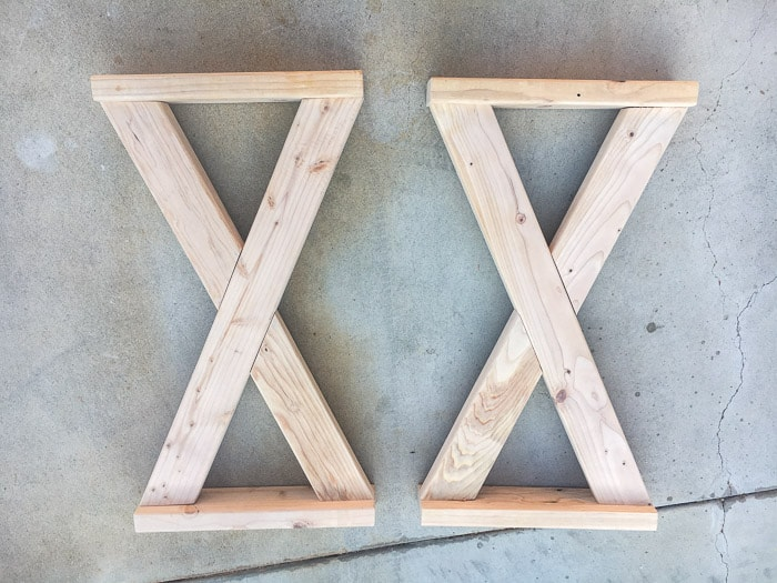 Building X-legs for a gorgeous console table