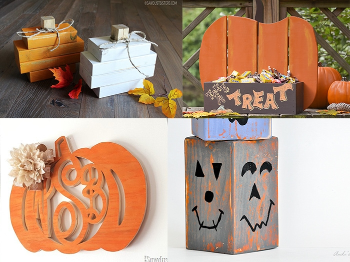 These DIY Wood Pumpkin ideas are easy and fun and can be made using pallets and scrap wood. Perfect Thanksgiving and Halloween decoration idea!