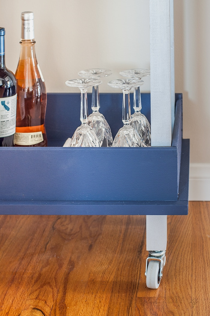 wood drawer cart old drawer repurpose idea diy bar cart anikas diy life