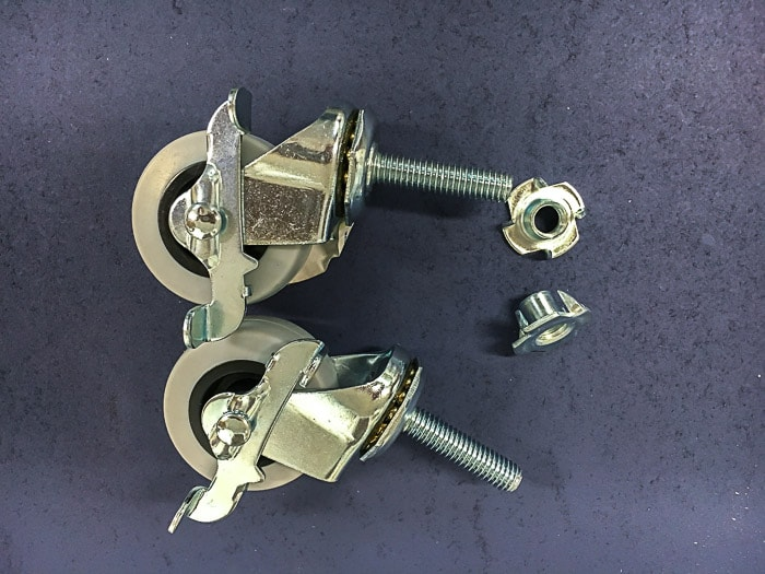 How to attach threaded casters - step by step with pictures