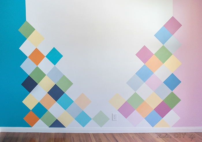 how to paint geometric shapes on wall