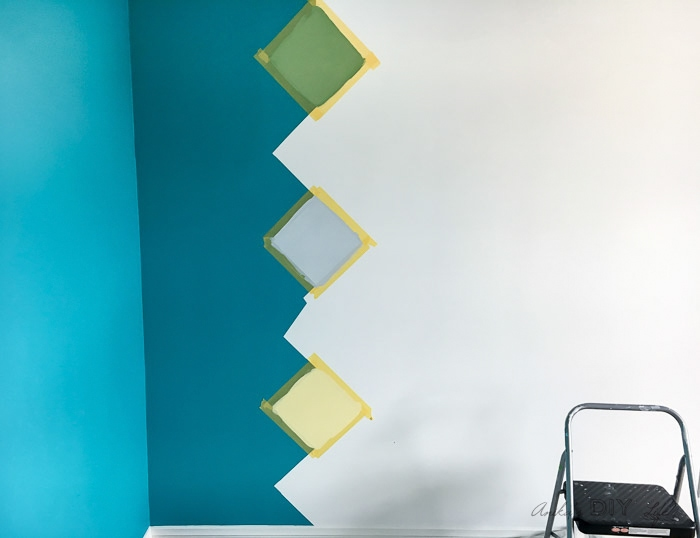 Painting a colorful accent wall using FrogTape