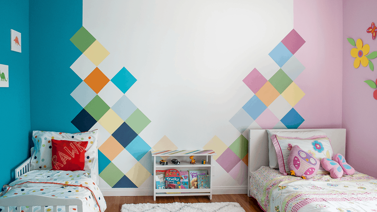 How to: Colorful Accent Wall for Kids Room - Anika\'s DIY Life