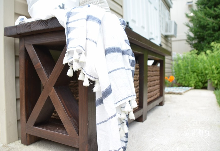 Easy DIY rustic X-leg bench