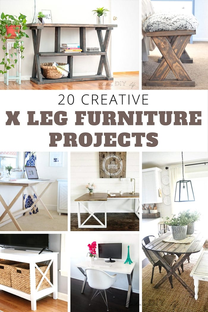 WOW!! These are amazing projects! | X-leg furniture |X-table X-leg desk | woodworking plans #woodworking #DIYfurniture #DIYdesk #diybench