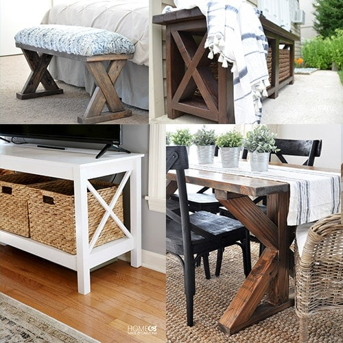 20+ DIY X-leg Furniture Project Ideas