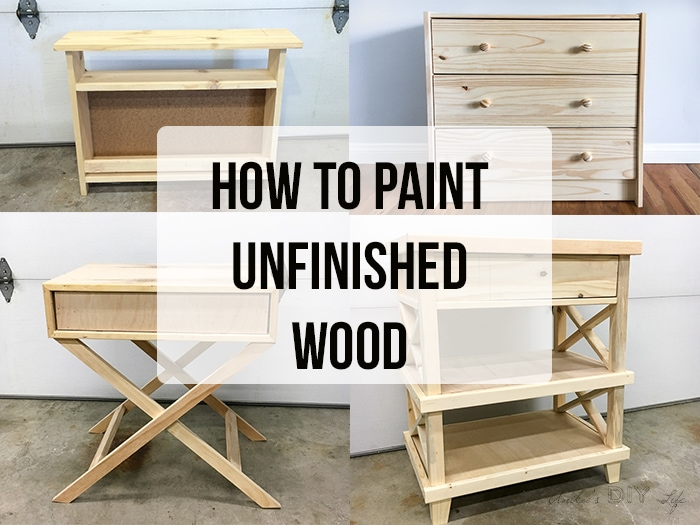 How To Paint Unfinished Pine Furniture Anika S Diy Life