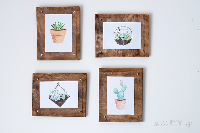 Easy Simple DIY photo frame with plywood and plexiglass!