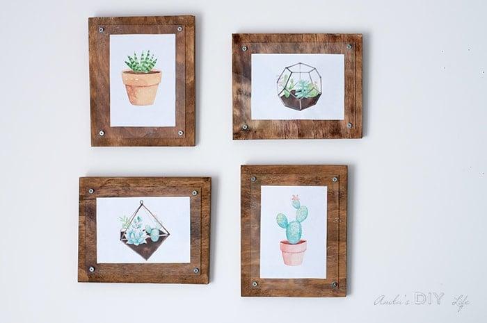 How to Make a Simple Photo Frame - Anika\'s DIY Life