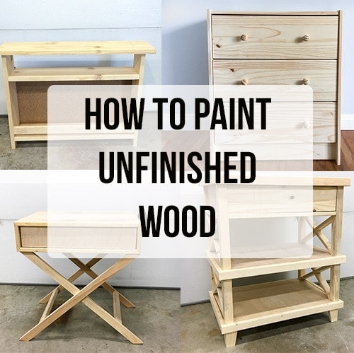 How to paint unfinished pine furniture - All the tips and tricks you need to know and the best way to paint any unfinished wood furniture.