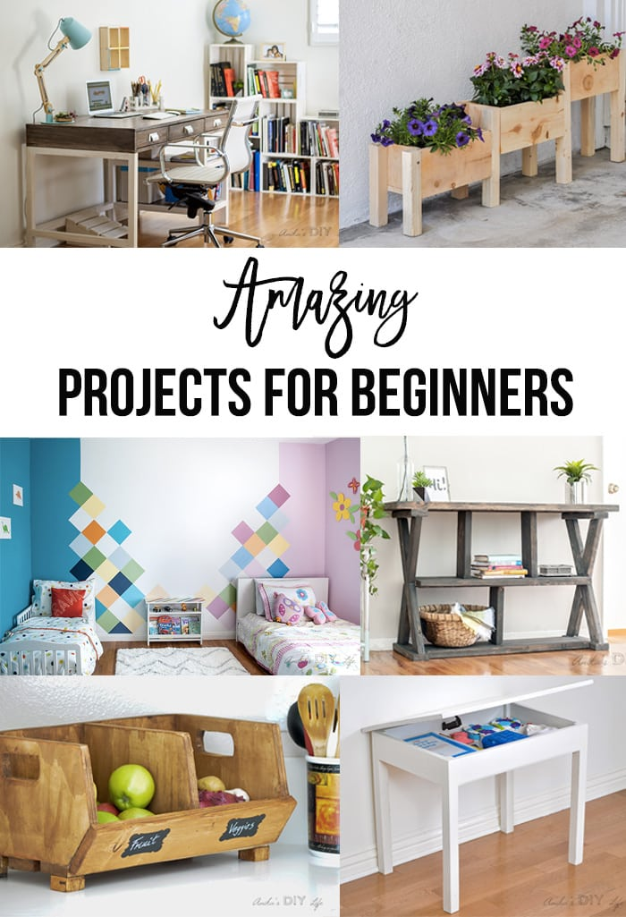 Wow!! These are amazing beginner DIY projects! You will love them!
