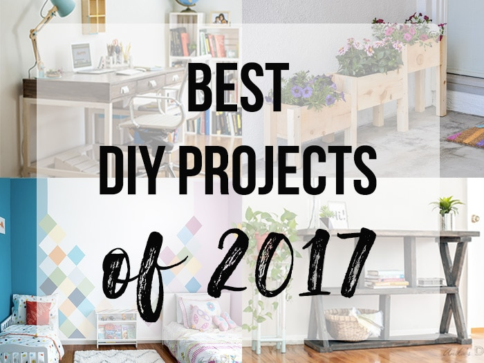 The best DIY projects of 2017 from Anika's DIY Life. From home decor to beginner woodworking project ideas! Get your DIY fix with the best of the best!