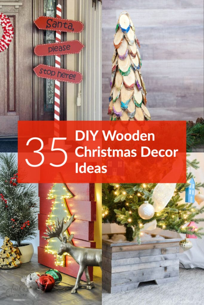 35 Diy Wood Christmas Decorations Anika S Diy Life