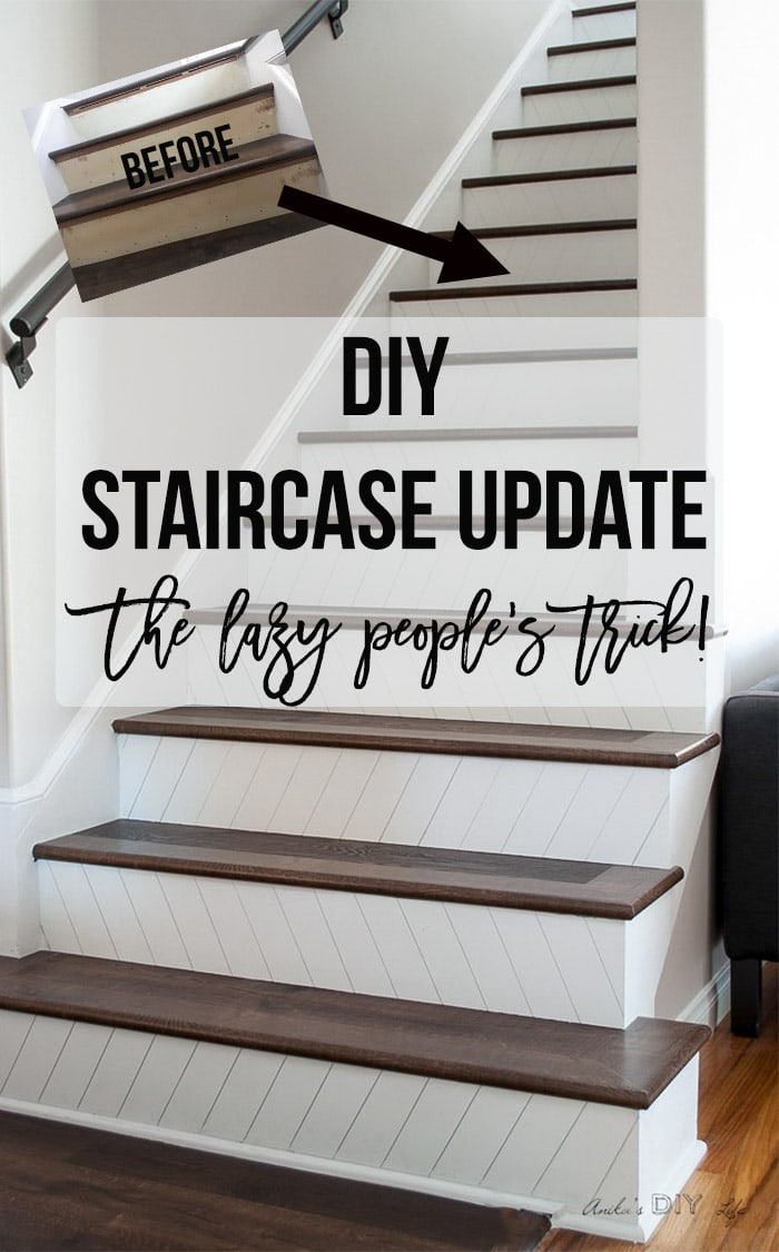 DIY Staircase update idea | Easy and quick way to a update staircase.
