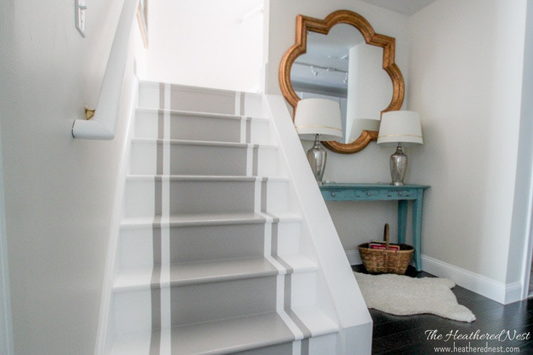 Painted staircase makeover | Check out these 10 amazing staircase makeover ideas!