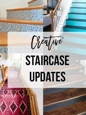 DIY staircase makeover ideas and inspiration! These 10 ideas add personality and fun to your stairs and stair risers.