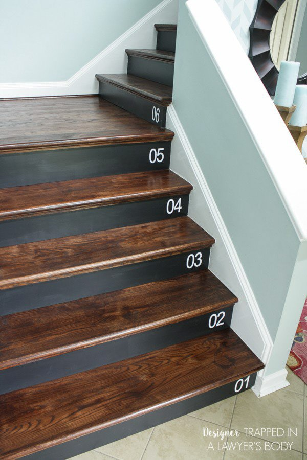 Numbered staircase makeover | Inspiring ideas to update your staircases