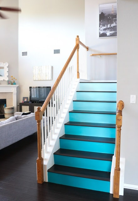 Attractive ... Ombre Painted Staircase Ideas | Inspiration To Update Your Staircase  With Color