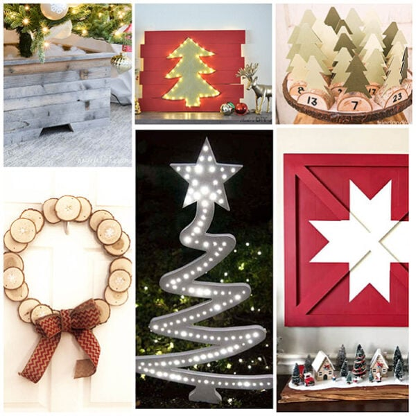 Easy DIY wood Christmas decorations and ideas to help inspire and motivate you to decorate your home with handmade projects.