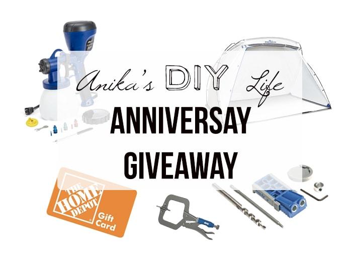 Anika's DIY Life 2nd anniversary giveaway