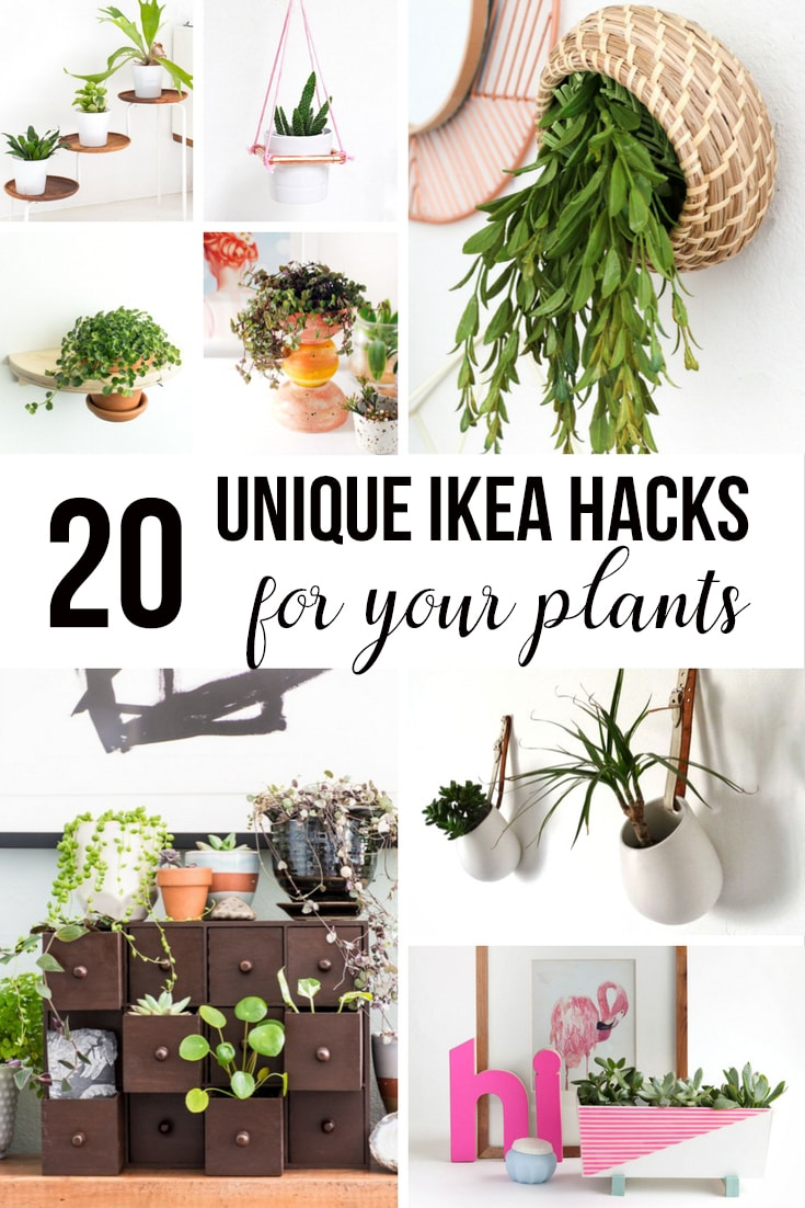 collage of Ikea Planter hacks with text.