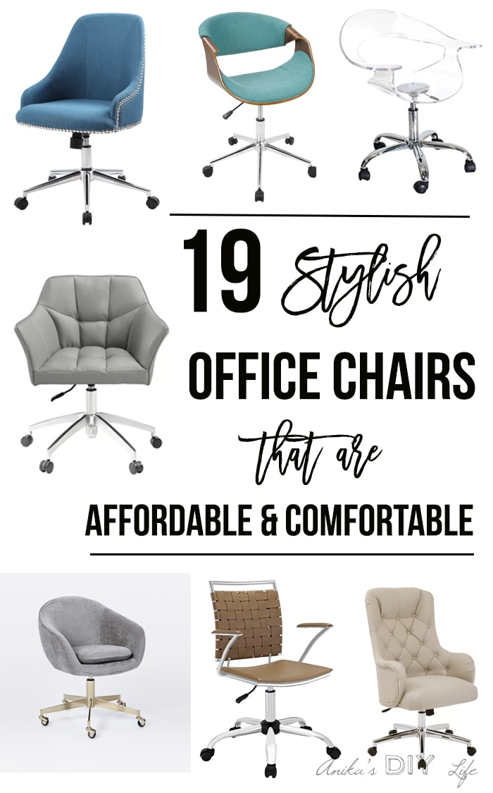 A gorgeous collection of 19 stylish Office chairs that are comfortable and affordable.