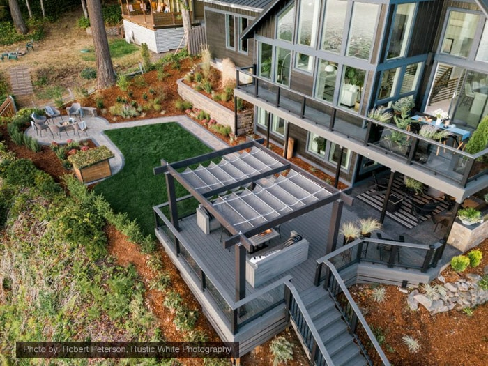 Wow! The gorgeous backyard of the HGTV Dream Home 2018