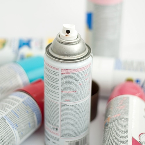 Everything you need to know about how to spray paint. Spray paint is an easy way to transform and spruce up any project. Check out all the tips and tricks you need to know BEFORE spray painting including safety, hacks and clean up.
