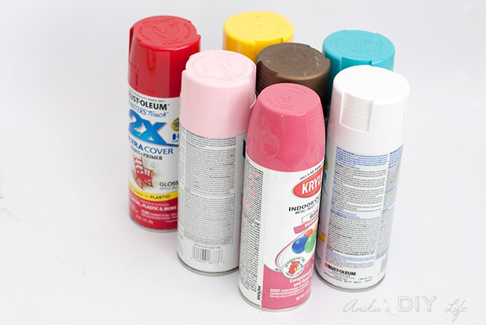 Colorful spray paint cans. How to spray paint.