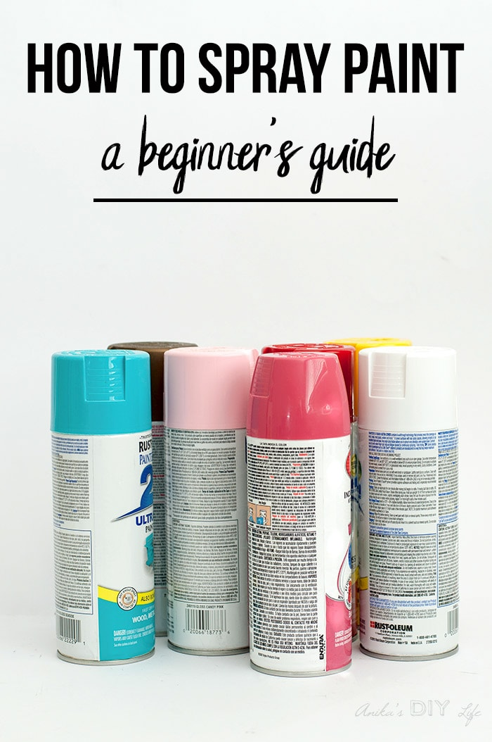 Spray paint cans with text overlay - A beginners guide to spray painting