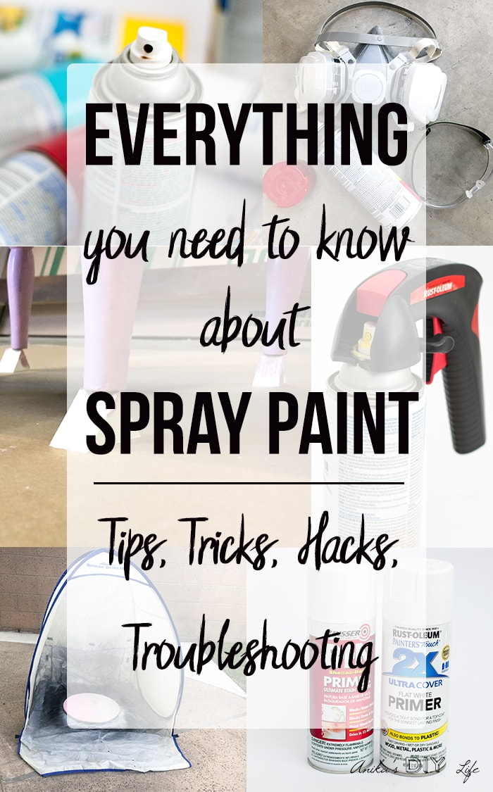 collage of spray painting tips and tricks with text overlay.