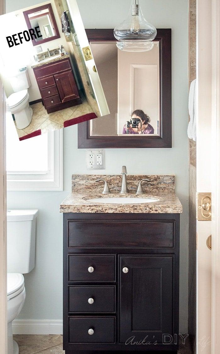 Small Bathroom Remodel - Ideas on a Budget - Anika\'s DIY Life