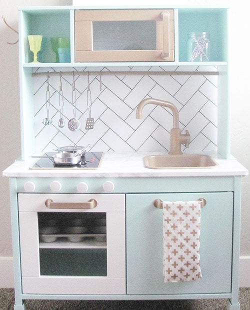 19 Fun Ikea Play Kitchen Hacks and Makeovers - Anika\'s DIY Life