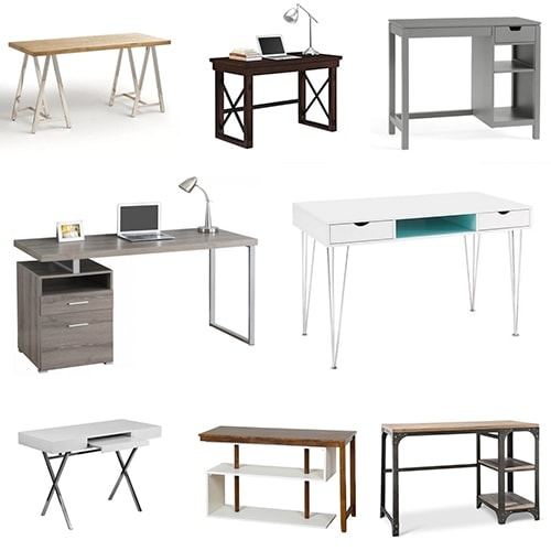 These 20 affordable and stylish desks will perfectly into any decor. These options for affordable desks are all under $300 and look perfect in any decor style! Perfect for creating a home office on a budget. Which one will you choose?