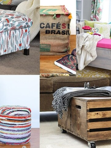 DIY Storage Ottoman ideas you can easily make. Build your own storage ottoman or repurpose an old crate or table to create the most functional and versatile piece in your living area.