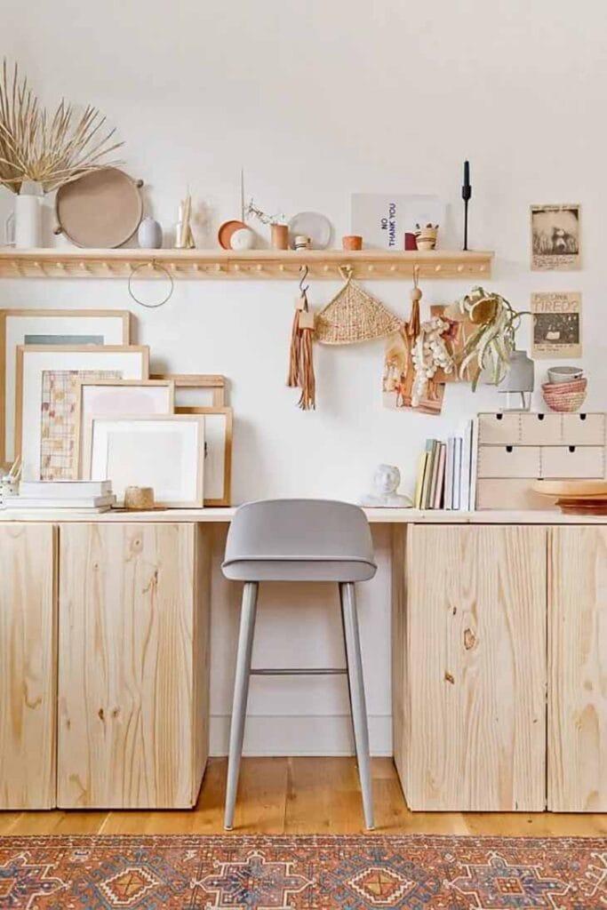 Ikea ivar used as a desk
