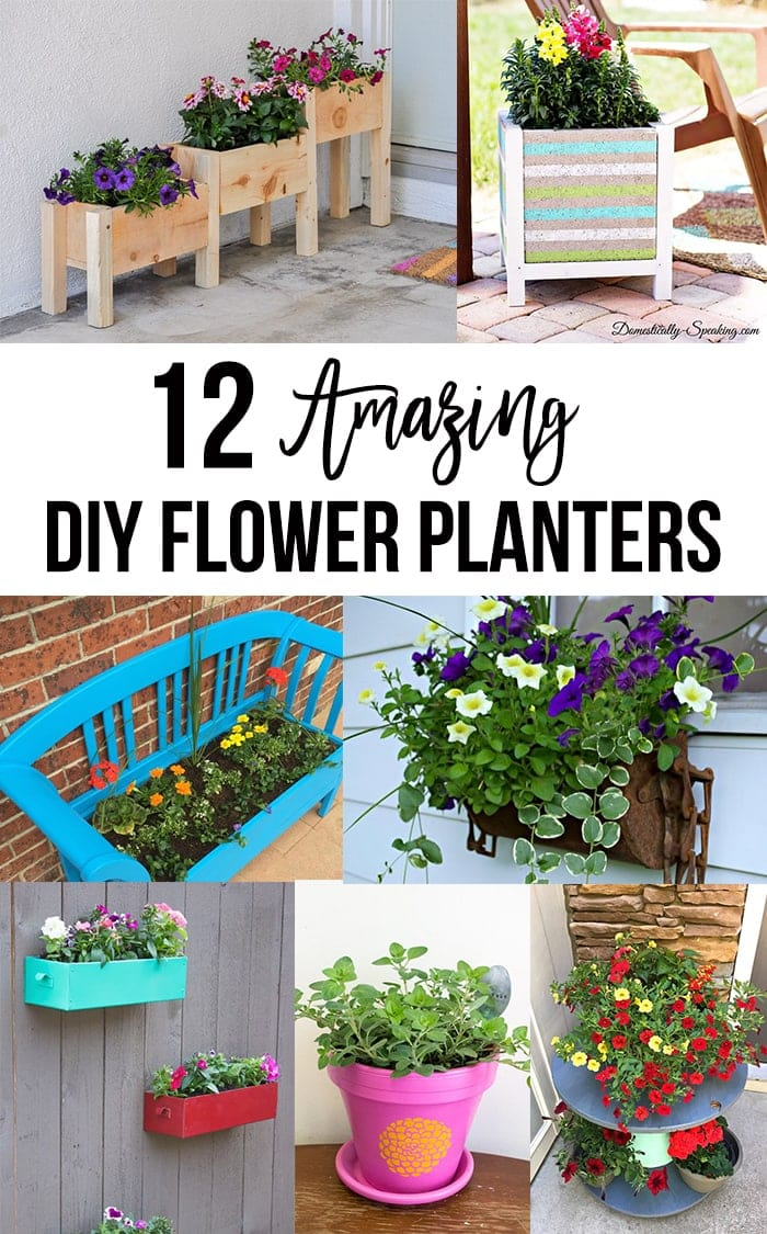 Easy DIY flower gardening ideas collage with text overlay