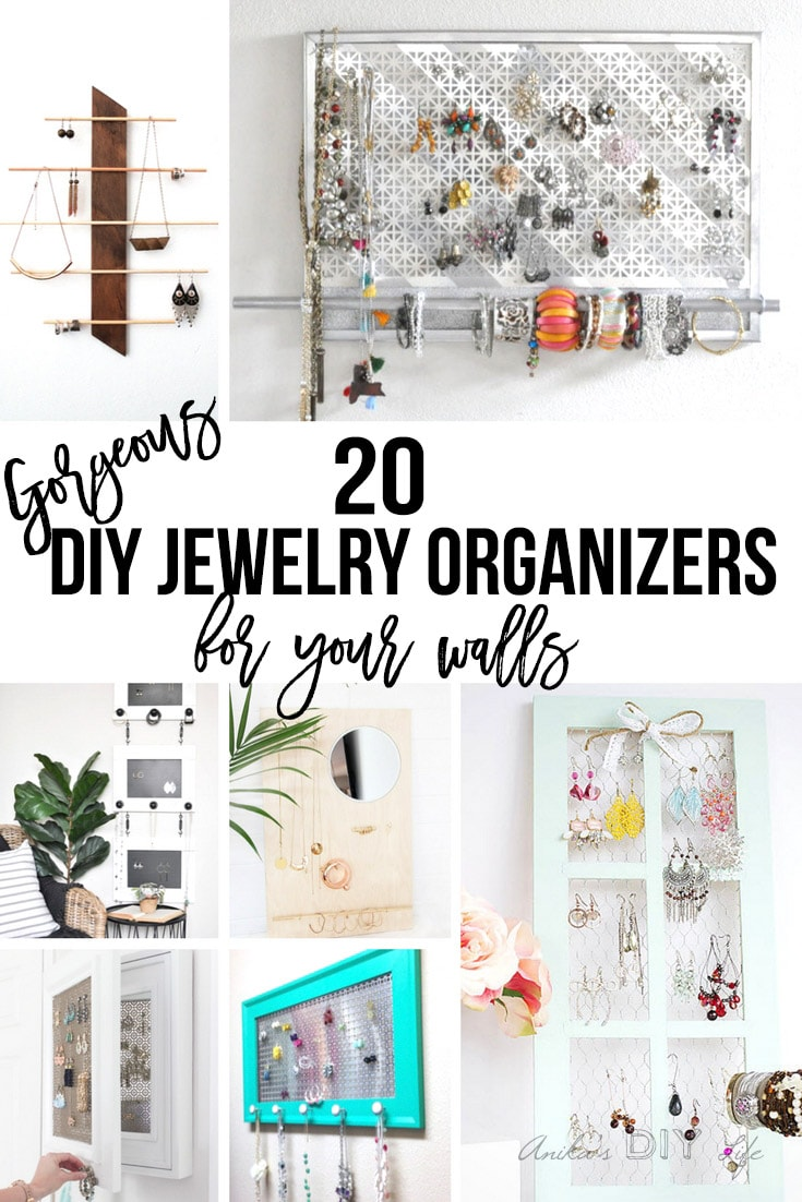 20 DIY Wall Jewelry Organizers Gorgeous Ways to Display Your Jewelry