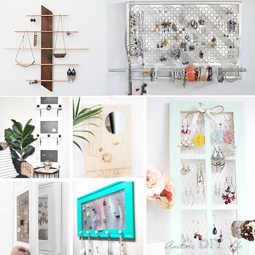 25 DIY Wall Jewelry Organizers