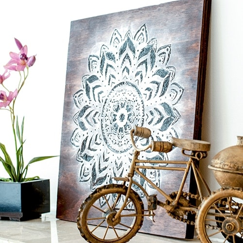 Dremel wood carving is a great way to make engraved wood art. Make a gorgeous DIY mandala wall art using the Dremel tool with this step by step tutorial.