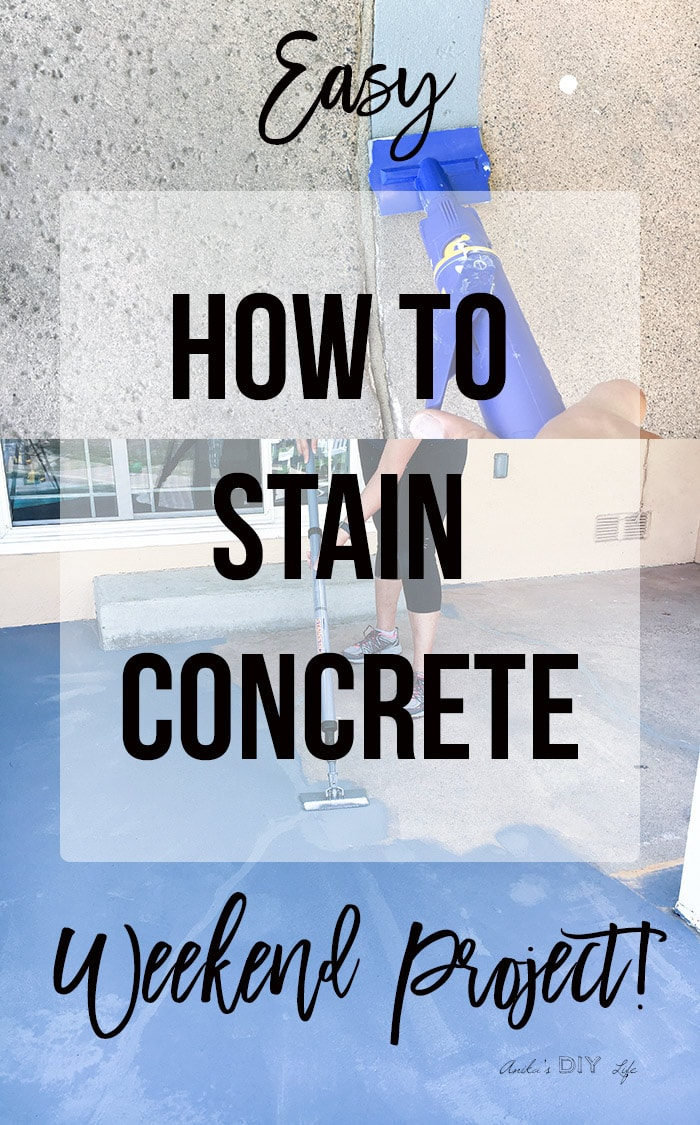 Staining concrete floors with HomeRight StainStick and Quick Painter