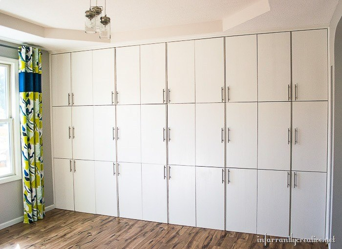 Built in cabinets using Ikea Ivar
