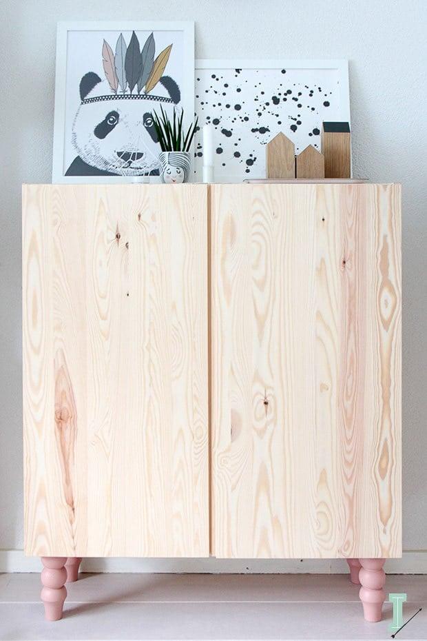 Ikea Ivar cabinet with custom legs