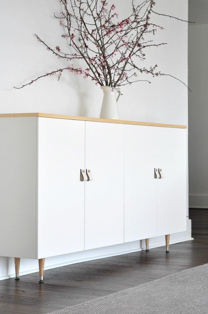 Ikea Ivar cabinet turned mid century buffet