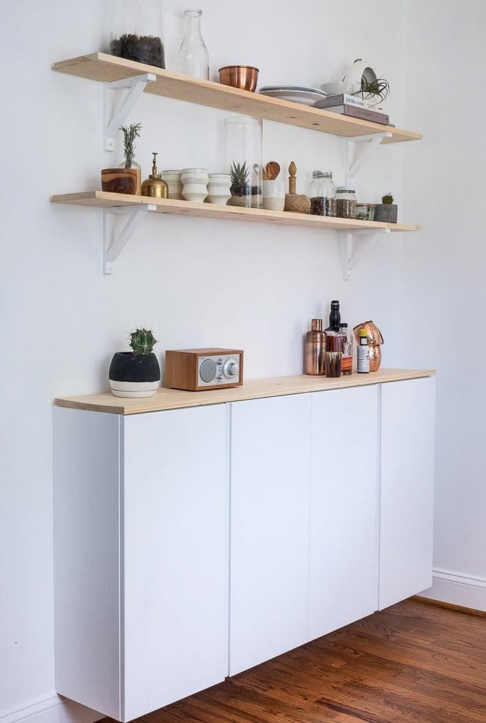 Minimalistic Ikea Ivar Cabinet makeover