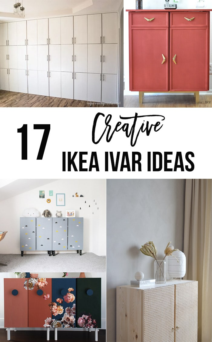 Ikea Cabinet Hack Ideas In A Collage With Text Overlay