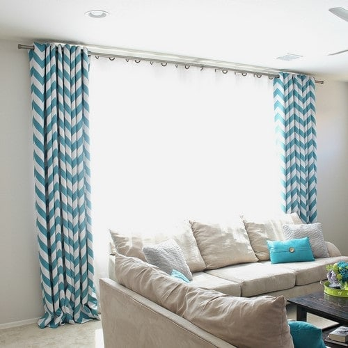 DIY Curtain Rods Using Electrical Conduit