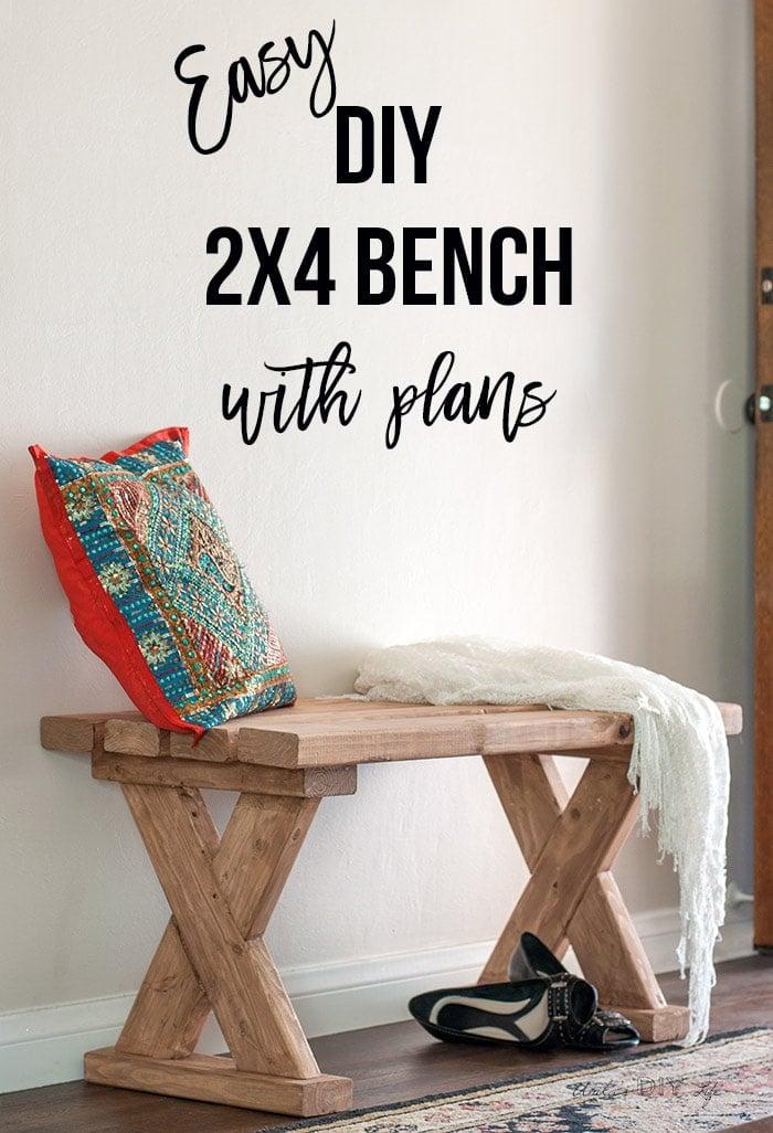 Astounding Diy 2X4 Bench How To Make An Indoor Outdoor Bench Uwap Interior Chair Design Uwaporg