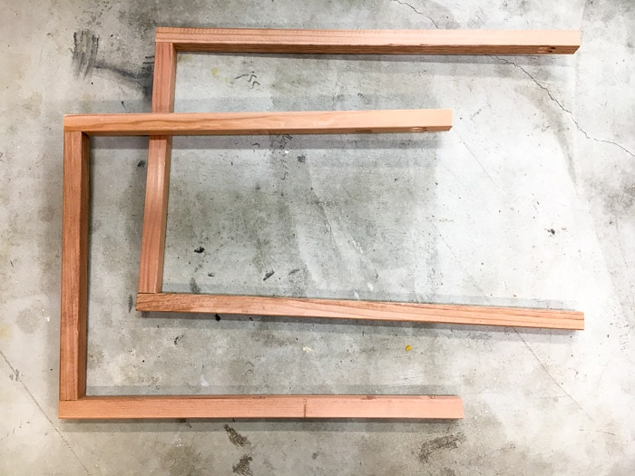 How to build a freestanding towel rack with shelves.